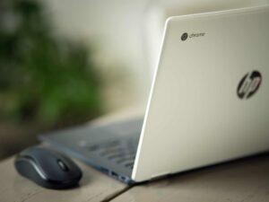 Chromebook achterkant